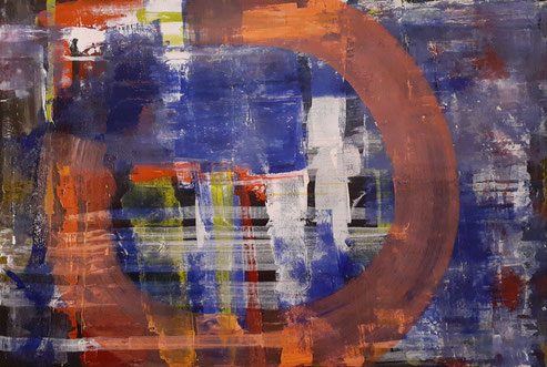2020 C 108 |Circle of Life - Acrylic on Canvas March 2020 24 x 36 inches | SOLD