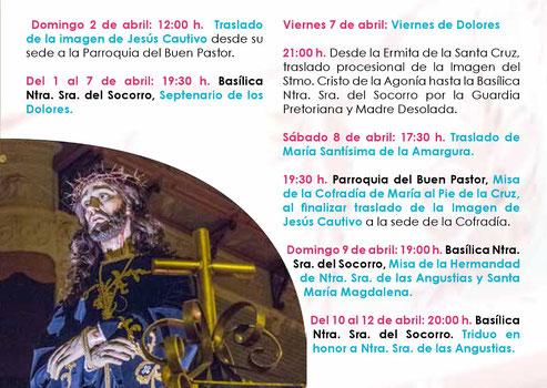Programa de la Semana Santa de ASPE