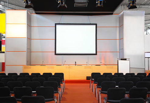 Veranstaltungsraum Leinwand Medientechnik