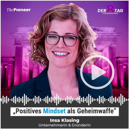 """Beitrag """"Geheimwaffe Mindset"""" von Insa Klasing im Podcast Der achte Tag #53"""