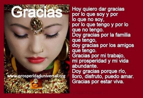 ORACIONES PODEROSAS - ORACIÓN DE GRATITUD - GRACIAS- EL PODER DE LA ORACIÓN DE FE - PROSPERIDAD UNIVERSAL- www.prosperidaduniversal.org