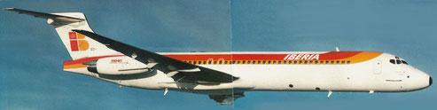 MD-87 im Farbkleid der Iberia/Courtesy: McDonnell Douglas