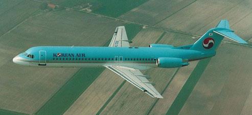 Bei Korean Air wurde die MD-82/-83-Flotte durch Fokker 100 ergänzt/Courtesy: Fokker