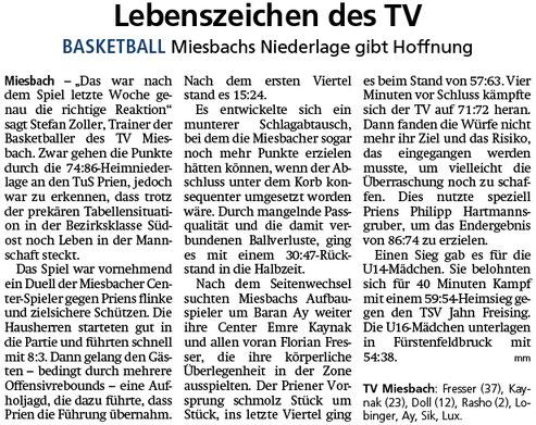Bericht im Miesbacher Merkur am 19.2.2019 - Zum Vergrößern klicken
