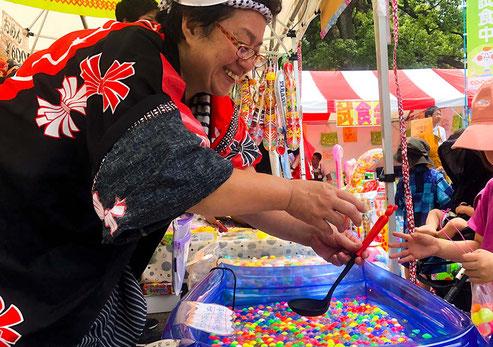 日比谷大江戸まつり, HIBIYA OEDO MATSURI 2019, お祭り縁日, 金魚すくい, 輪投げ, 射的, くじ引き