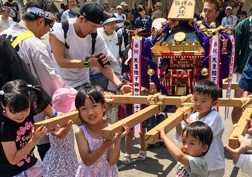 日比谷大江戸まつり, HIBIYA OEDO MATSURI 2019, 神輿担ぎ体験, 子供神輿,