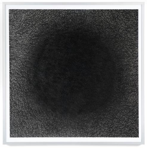 Verdichtung III, 2017, Bleistift auf Papier, 90 x 90 cm