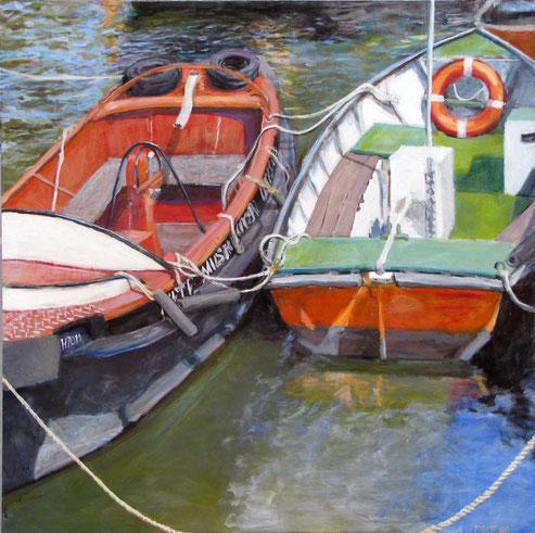Oevelgoenne 1, Format 90 x 90 cm, Eitempera/Öl-Lasur auf Canvas, 2008