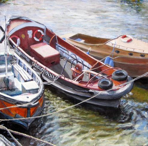 Oevelgönne 3, Format 90 x 90, Eitempera/Öl-Lasur auf Canvas, 2008