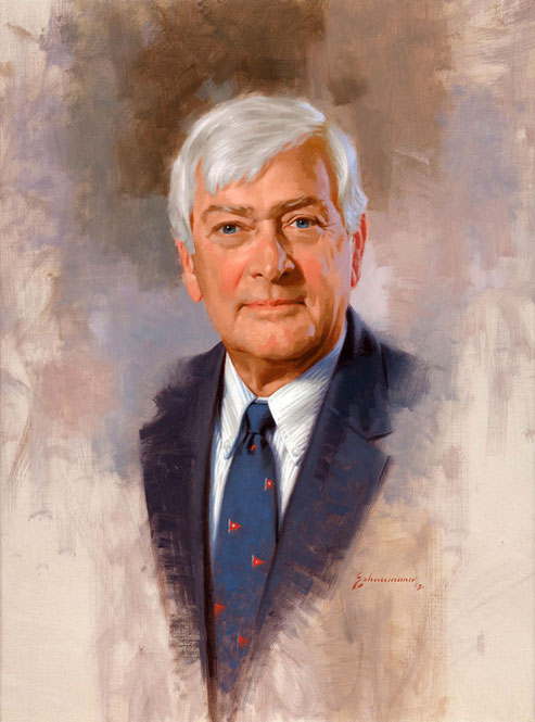 Dr Haaland - Institutational portrait in oil by Peter Schaumann, Philadelphia Portrait Artist, Portrait Artist Philadelphia