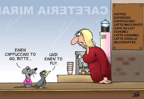 Uli Stein Cartoon Cafeteria