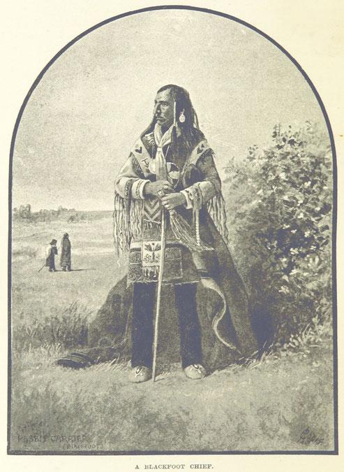 Symbolbild eines Indianerhäuptlings