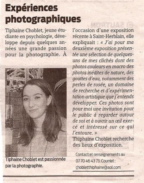 article presse océan photographe photographie exposition