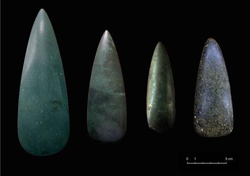 Hachas pulidas de posible origen alpino documentadas en la Península Ibérica