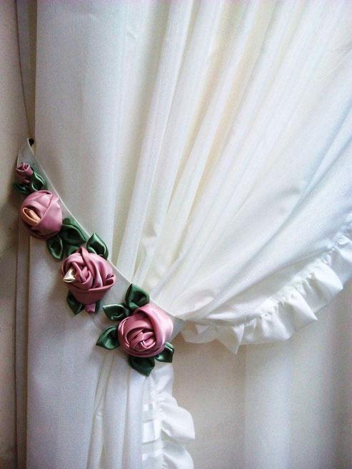 Подвязы  для штор с цветами
