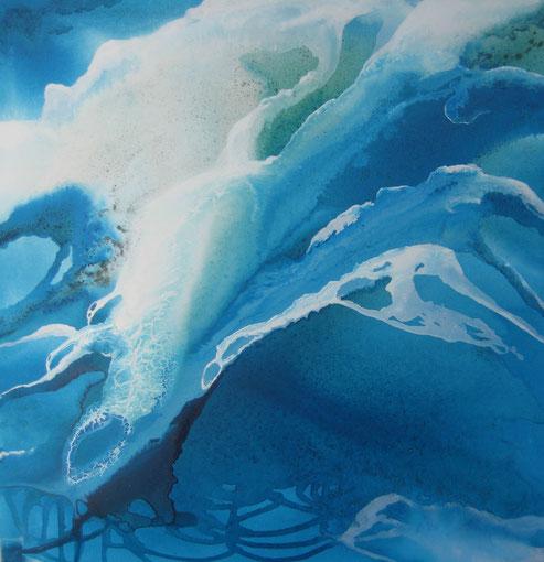 Aus der Reihe: Atelier Erde 100 x 100 cm, Urgesteinsmehl, Acrylfarbe, Acryllack