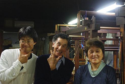 4代目・和正さんに撮っていただきました記念写真。中村博行さん、都子さんご夫妻とともに・・・宝物の一枚になります!