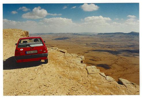 Ford Fiesta in der Wüste
