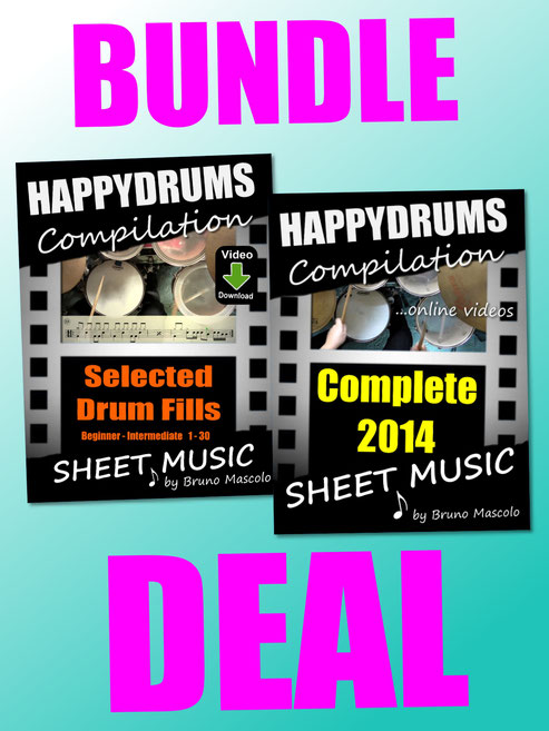 happydrums compilation bundle deal - more than 100 drum set examples
