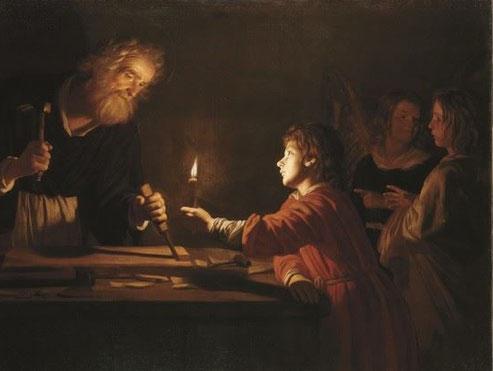 """Delle Notti, """"Gesù nella bottega di san Giuseppe"""" (1617-1618)"""