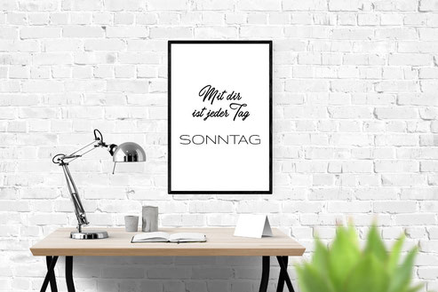 Typografie Poster, Liebesprint, Typografie Print, Geschenkidee