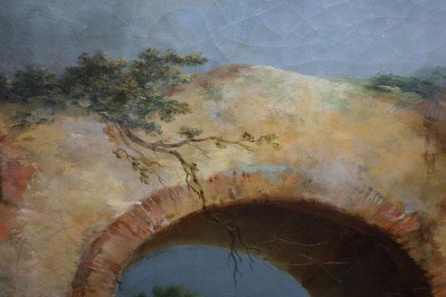 Casanova Francesco Guiseppe, Paysage avec pont,  2e moitié du XVIIIe / Musée d'Abbeville