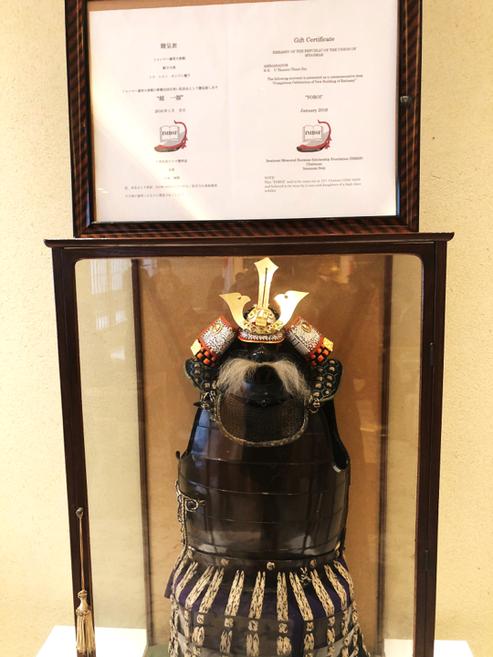 今泉清詞氏より駐日ミャンマー大使館に寄贈された15世紀の鎧