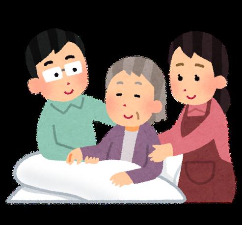 高齢者の介護をする成年後見人たち