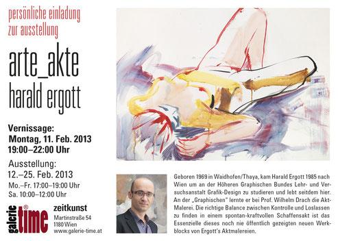 Galerie Time Ausstellung arte_akte mit Harald Ergott