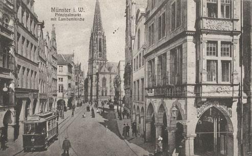 Prinzipalmarkt um 1910 - Sammlung Henning Stoffers