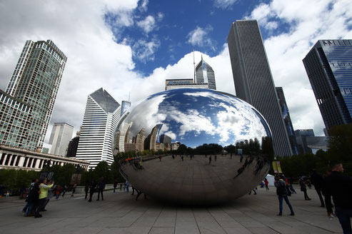 The Cloud Gate at Millenium Park