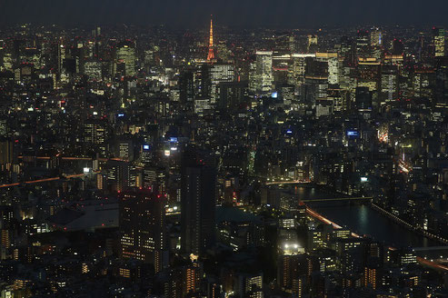 Tokyo by night from Skytree