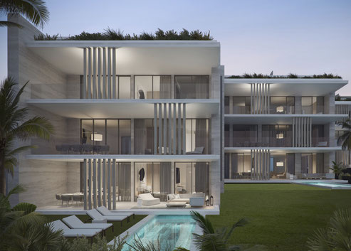 RESIDENCE d'APPARTEMENTS DE LUXE LE SAVOY VUE MER ILE MAURICE GRAND BAIE