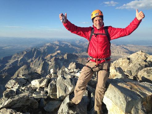 Helmut Linzbichler auf der Grand Teton, USA