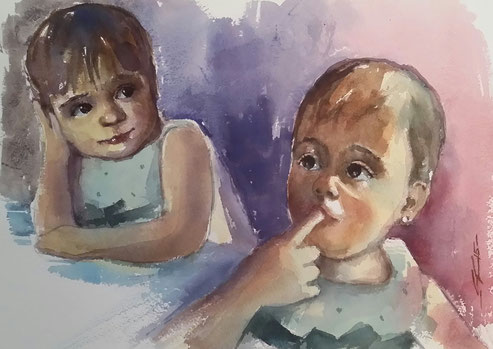 Ultimo retrato doble de estas pequeñas pero futuras promesas.