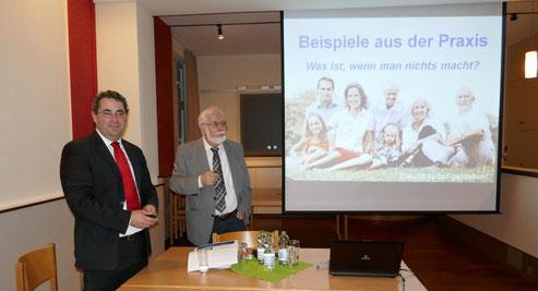 Ronald und Hubertus Mayer referieren zum Themenkomplex Vorsorgevollmacht