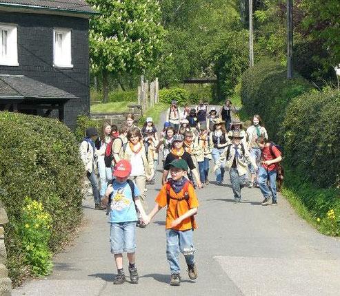 Aufbruch zum Pfingstlager (Foto: Archiv)