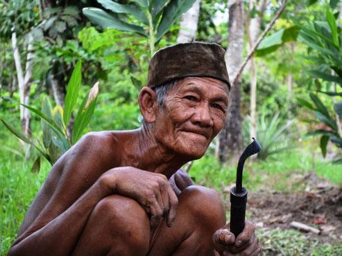Dayak bevolking op Kalimantan
