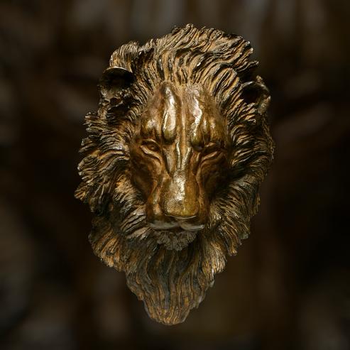 Bronze animalier, Sculpture bronze,  lion, Sophie Gérault, art animalier