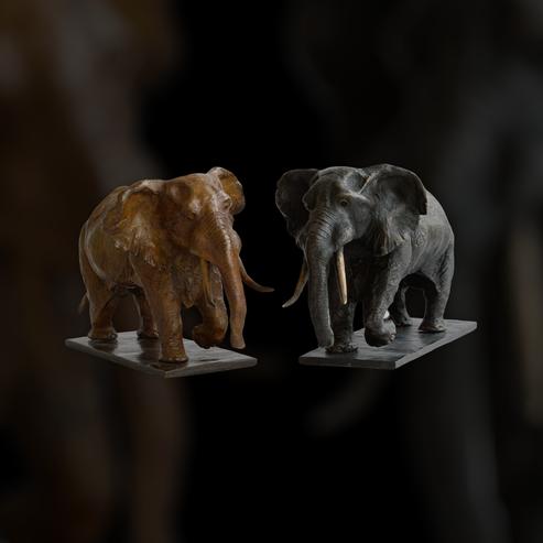 sculpture, bronze, éléphant, elephant, bronze animalier, art animalier, Sophie Gérault