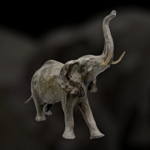 bronze animalier, sculpture, bronze, éléphant, elephant, Sophie Gérault, art animalier