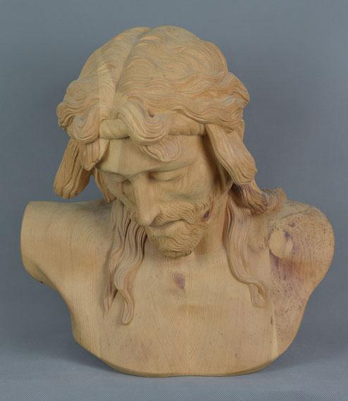 Christus leidend, 2008, Zirbelkierfer, 50cm