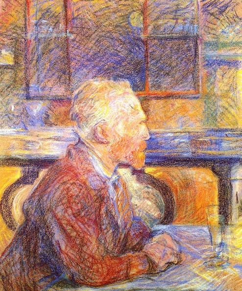 トゥールーズ・ロートレック「フィンセント・ファン・ゴッホの肖像」(1887年)