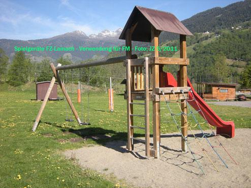 Spielgeräte Freizeitzentrum Lainach
