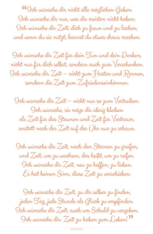 """Nature.Impulse - Gedicht """"Ich wünsche dir Zeit"""" von Elli Michler"""