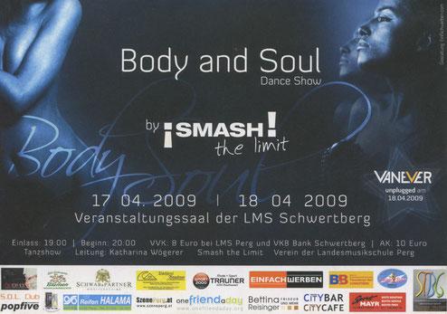 Body & Soul Flyer 2009