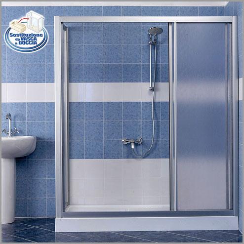 Da Vasca a Doccia - Soluzione Standard - Trasforma la vasca da bagno in box doccia - in solo 8 ore