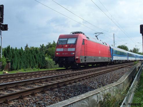 101 131-1 durchfährt am 13. August 2013 Dresden-Stetzsch