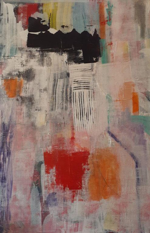 "2019 C808  Scorn    Acrylic on Canvas  10/18/19  24.00"" W x 36.00"" H     Sold"