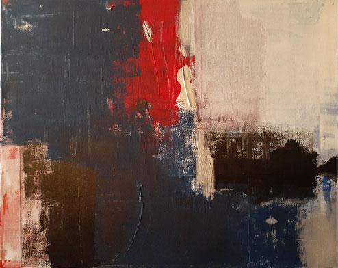 "2019 C802  Betrayal    Acrylic on Canvas  12/18/19   20.00"" W x 16.00"" H     SOLD"